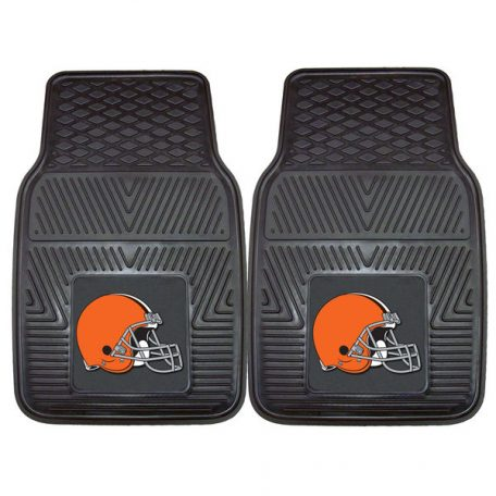 Cleveland Browns 27 x 18 2-Pack Vinyl Car Mat Set