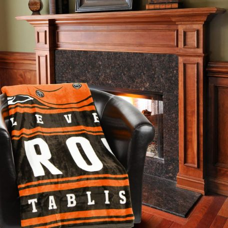Cleveland Browns Historic Logo 60 x 80 Stacked Silk Touch Plush Blanket