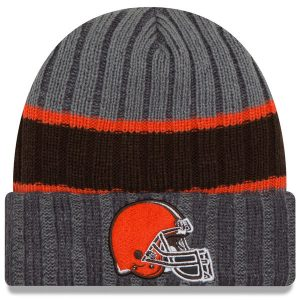 Cleveland Browns New Era Stripe Chiller Cuffed Knit Hat – Graphite