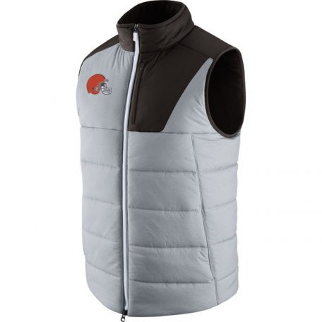 Cleveland Browns Nike Champ Drive Vest – Heathered Gray
