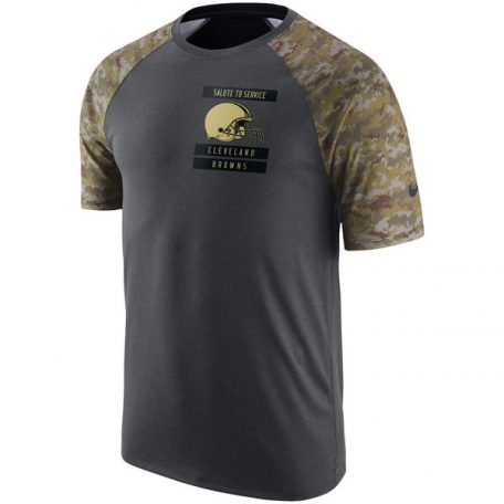 Cleveland Browns Nike Salute to Service Performance Raglan T-Shirt – Anthracite