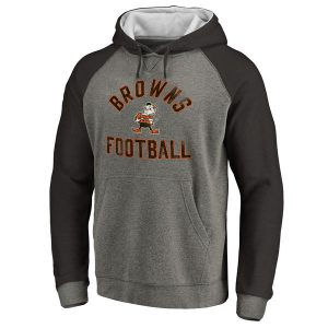 Cleveland Browns Comfort Tri-Blend Pullover Hoodie – Gray/Black