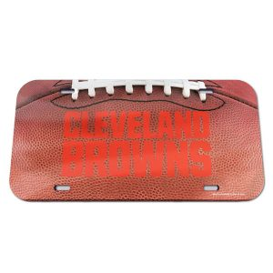 Cleveland Browns Crystal Mirror License Plate
