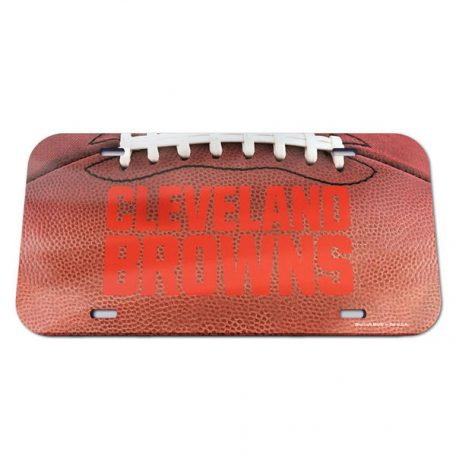 Cleveland Browns WinCraft Football Crystal Mirror License Plate