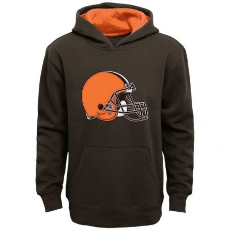 Cleveland Browns Youth Fan Gear Prime Pullover Hoodie – Brown