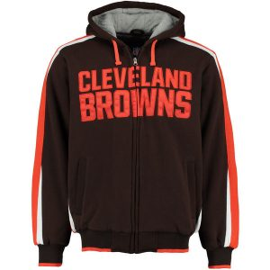 Men's Cleveland Browns Carl Banks Full-Zip Hooded Fleece Jacket
