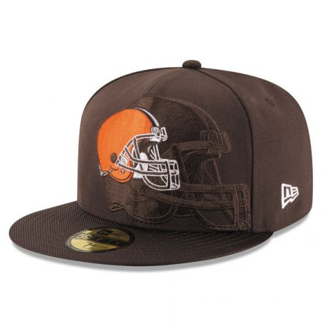 Men's Cleveland Browns New Era Brown Sideline Official 59FIFTY Fitted Hat
