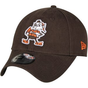 Men's Cleveland Browns Brown Throwback Logo Relaxed Fitted Hat