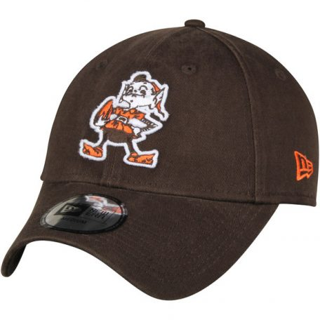 Men's Cleveland Browns New Era Brown Throwback Logo Legacy Relaxed 49FORTY Fitted Hat