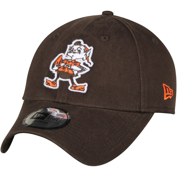 a41d738f Men's Cleveland Browns New Era Brown Throwback Logo Legacy Relaxed 49FORTY Fitted  Hat