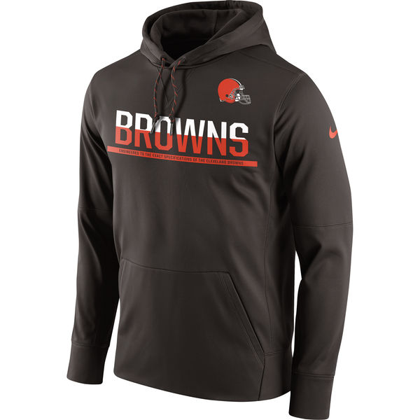 hot sale online 4a7e9 1ef72 Men's Cleveland Browns Nike Brown Sideline Circuit Pullover Performance  Hoodie
