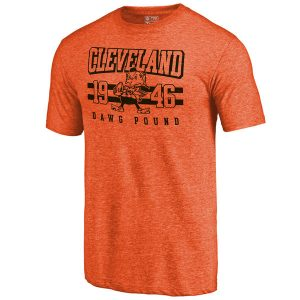 Men's Cleveland Browns Pro Line Orange Tri-Blend T-Shirt