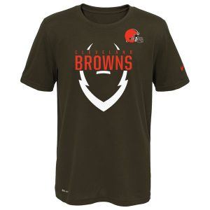 Youth Cleveland Browns Nike Brown Icon Performance T-Shirt