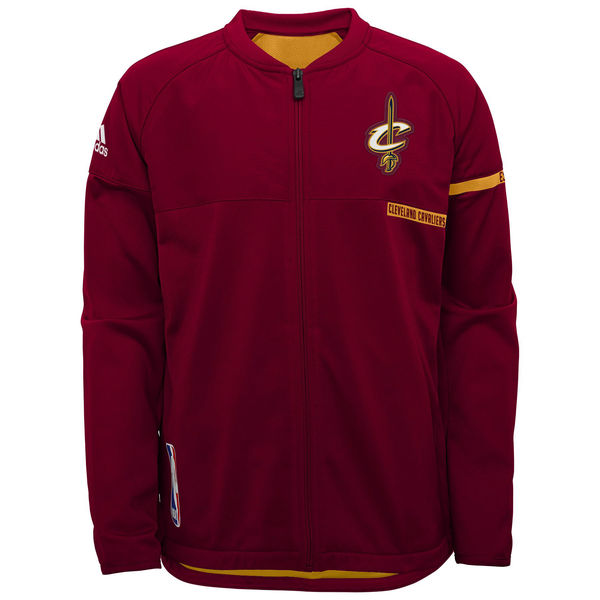 c693b4a8f648 Cleveland Cavaliers adidas Youth On-Court Full-Zip Jacket – Wine