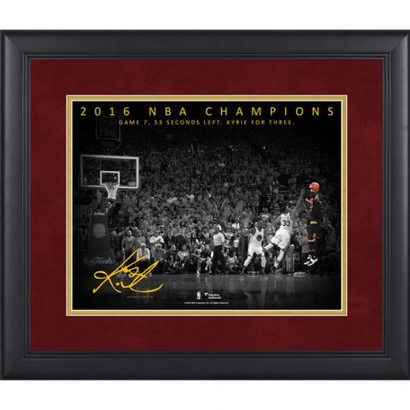 Kyrie Irving Cleveland Cavaliers Fanatics Authentic Framed 11x 14NBA Finals Game 7 Dagger Three Pointer Moments Spotlight
