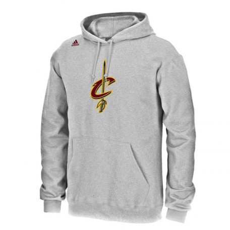 LeBron James Cleveland Cavaliers adidas Name & Number Pullover Hoodie – Gray