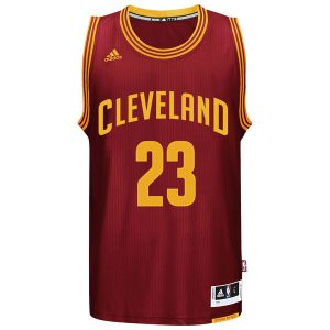 LeBron James Cleveland Cavaliers adidas Player Swingman Road Jersey – Burgundy