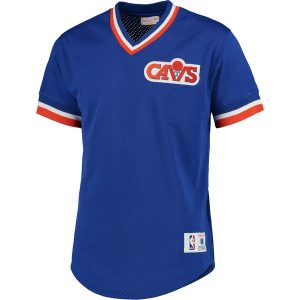 Men's  Cavaliers Mitchell & Ness Blue Mesh V-Neck
