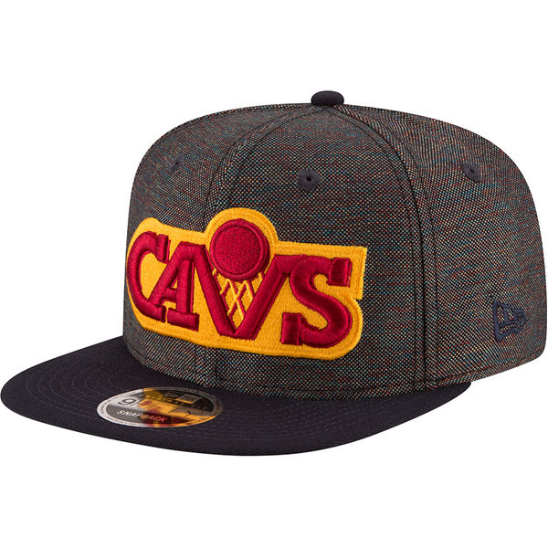 02f7e5a0870 Men s Cleveland Cavaliers New Era BlackNavy Hardwood Classics Vivid Crowner  9FIFTY Adjustable Snapback Hat