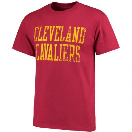 Men's Cleveland Cavaliers Wine Straight Out NBA T-Shirt