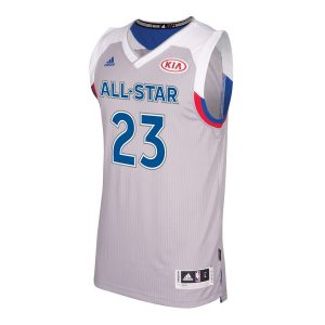Men's Eastern Conference LeBron James adidas Gray 2017 NBA All-Star Game Swingman Jersey