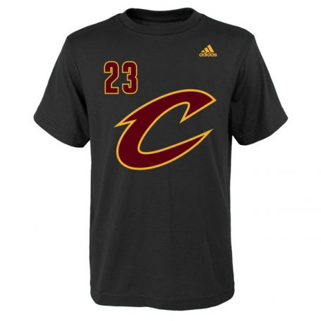 Youth Cleveland Cavaliers LeBron James adidas Black Game Time Name & Number T-Shirt