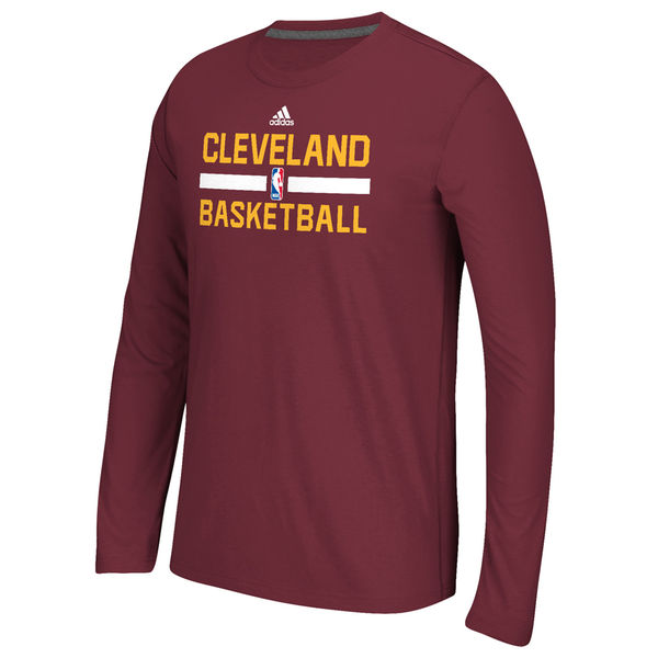 50b19f1e8b4 Youth Cleveland Cavaliers adidas Red Practice ClimaLITE Long Sleeve T-Shirt