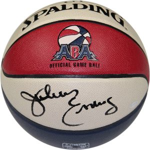 Julius Erving Signed ABA Basketball