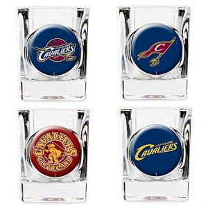 4 Pack Cleveland Cavaliers Collector's Shot Glass Set