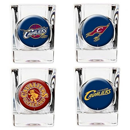 NBA Cleveland Cavaliers Shot Glasses (Set of 4)