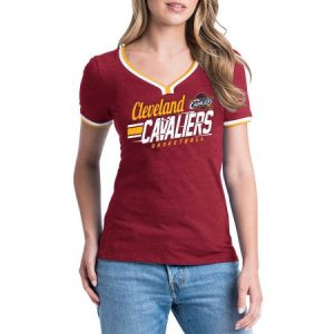 NBA Cleveland Cavaliers Women's Short Sleeve Biblend V-notch Scoop Tee