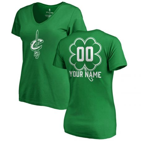 Women's Cleveland Cavaliers Fanatics Branded Kelly Green Personalized Dubliner T-Shirt