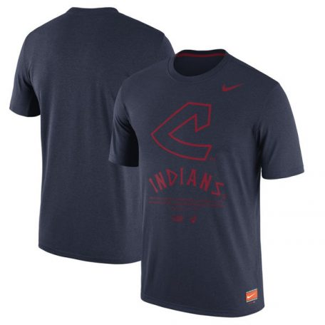 Cleveland Indians Nike Cooperstown Collection Legend Gym Issue 1.7 Performance T-Shirt – Navypx