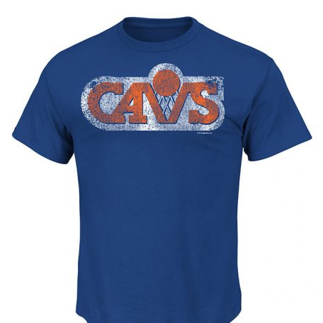 Majestic Cleveland Cavaliers Mens Blue Post Up Short Sleeve T Shirt1