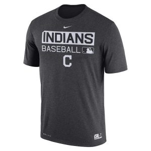 Cleveland Indians Charcoal Authentic Collection Performance T-Shirt