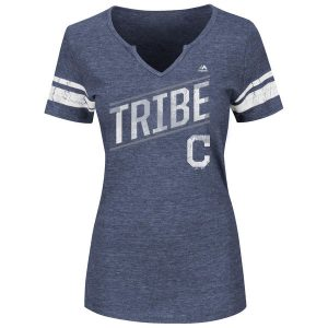 Women's Cleveland Indians Notch Neck T-Shirt