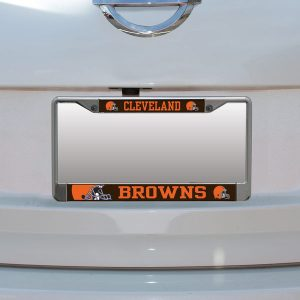 Cleveland Browns Small Over Large Mega License Plate Frame
