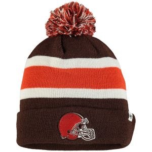 Men's Cleveland Browns '47 Brown Breakaway Cuffed Knit Hat with Pom