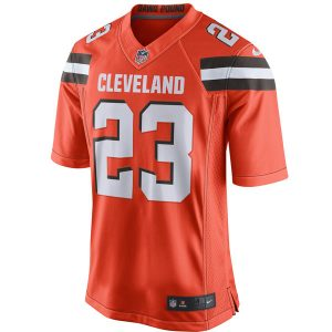 Men's Cleveland Browns Joe Haden Nike Orange Limited Alternate Jersey