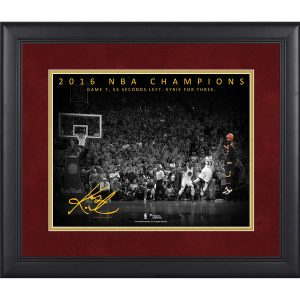 Kyrie Irving Authentic Framed NBA Finals Game 7 Dagger Three Pointer Moments Spotlight