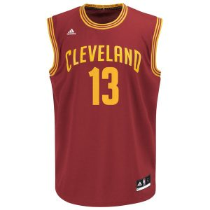 Mens Cleveland Cavaliers Tristan Thompson adidas Wine Replica Road Jersey