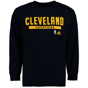 Men's Cleveland Cavaliers adidas Navy Cut and Paste Long Sleeve T-Shirt