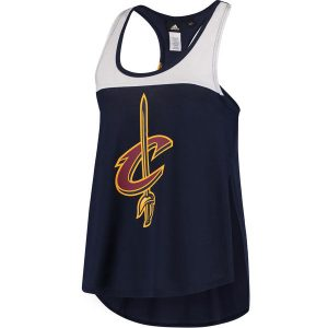Women's Cleveland Cavaliers adidas Navy Colorblock Tank Top
