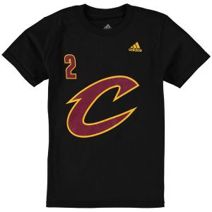 Youth Cleveland Cavaliers Kyrie Irving Black Game Time Flat Name & Number T-Shirt