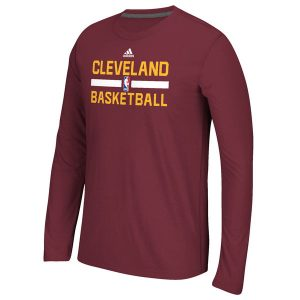 Youth Cleveland Cavaliers adidas Red Practice ClimaLITE Long Sleeve T-Shirt