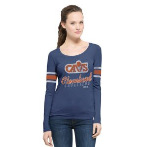 Women's Cleveland Cavaliers Navy  Long Sleeve T-Shirt